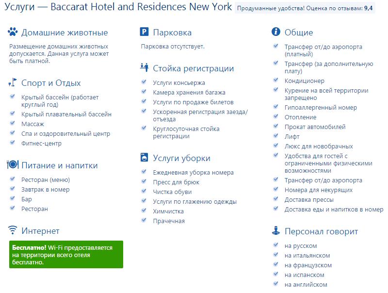 Лучшие отели Нью-Йорка, Манхэттен, США