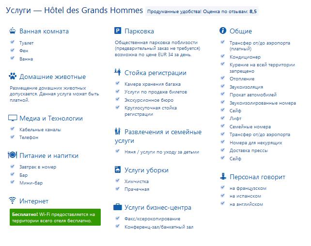 Лучшие отели 3 звезды в центре Парижа, Франция