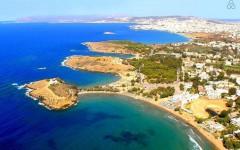 Promenade and beaches of Agia Apostoli