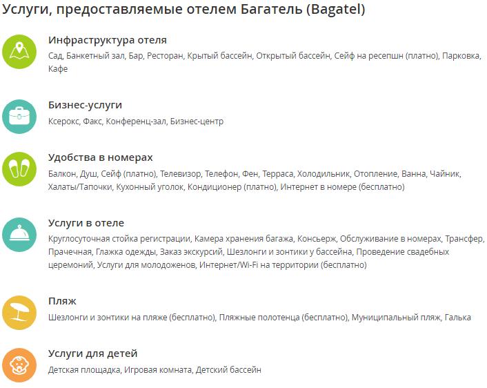 Отель Багатель Кореиз Крым